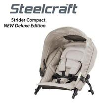 New Steelcraft Strider Compact Deluxe Edition Second Seat Stroller Natural Linen