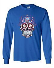 Long Sleeve Adult T-Shirt Tribal Skull Baseball Chicago Sports DT