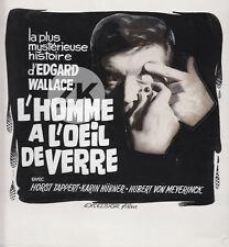 DER MANN MIT DEM GLAUSAUGE Oeil de verre EDGAR WALLACE Crime MAQUETTE 1969