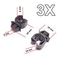 3X Motorhaubenstütze Stange clips für Opel, Vauxhall, GM, Mitsubishi