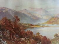 ANTIQUE PRINT C1920'S LOCH LOMOND GLEN FALLOCH PERTHSHIRE SCOTLAND PAINTING ART