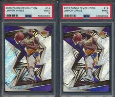 Investor Lot x2 2019 Panini Revolution 14 LeBron James PSA 9 MINT