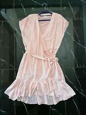 H&M Kleid Wickelkleid mit Volant 48