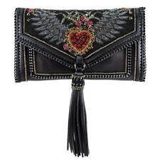 Mary Frances That's Amore Black Heart Clutch Bead New Handbag Purse Bag New