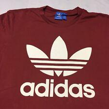 Adidas Large Red T-shirt Sporting Goods Soccer Tennis Basketball Football