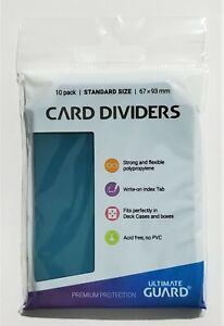 🍀10x Card Dividers ULTIMATE GUARD Petrol Blue Deck Box separatori carte🍀