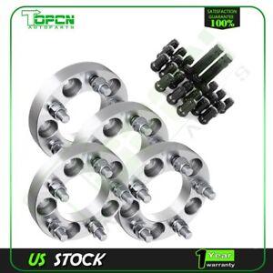 """4Pc 1"""" 25mm Thick 5x4.5 to 5x4.5 1/2"""" wheel spacers+23Pcs Lug Nuts+2 Keys"""