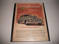"1946 PONTIAC ""SILVER STREAK"" ORIGINAL CANADIAN PRINT AD GARAGE ART COLLECTIBLE"