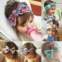 mignon bébé fille élastique arc noeud ruban chef. le floral turban
