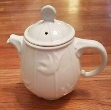 RARE Hall China Cream Ivory Bird Birdcage Teapot