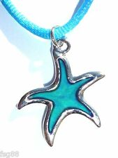 NEW Star Fish Color Change Heat Thermo Mood Pendant StarFish Necklace