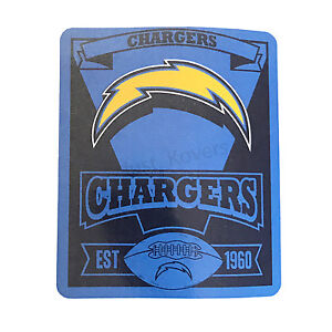 Chargers License Football League Fleece Throw Blanket 50''x 60'' by Northwest