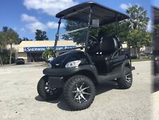 Black 4 Passenger Excel Golf Cart Lifted Aluminum Chassis Fast Custom 400A 5Kw