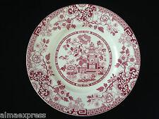"Rare Myott Staffordshire England China RED Indiana - 8"" LUNCHEON / SALAD PLATE"