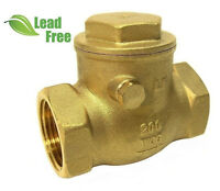 "3/4"" (NPT) Threaded  Brass Swing Check Valve, LEAD-FREE"