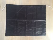 "Coach Dark Brown Satin Drawstring Dust Sleeper Storage Bag Dustbag 19"" X 14.5"""