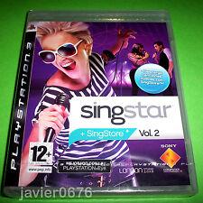 SINGSTAR VOLUMEN 2 NUEVO PRECINTADO PAL ESPAÑA PLAYSTATION 3