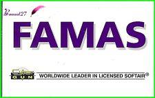"Autocollant CYBER GUN Worldwide leader in licensed softair arme "" FAMAS """