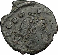 Theodosius II & Honorius w spears  408AD Authentic Ancient  Roman Coin  i32830