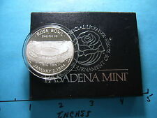 Rose Bowl Pacific 10 January 1984 95Th Rose Parade 999 Silver With Display Box