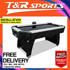 6FT Air Hockey Table Black Top Modern Design for Kids Youth Gift