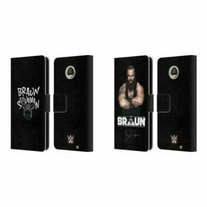 OFFICIAL WWE BRAUN STROWMAN LEATHER BOOK WALLET CASE FOR MOTOROLA PHONES