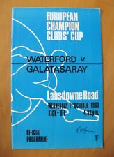 WATERFORD v GALATASARAY European Cup 1969/1970 *VG Condition Football Programme*
