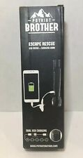 Solar Battery Powered Patriot Brother LED Flashlight with phone charger New