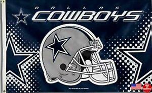 Cowboys Helmet 3x5 FLAG Man Cave Dallas Banner American Football New Fast USA