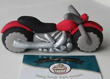 Handmade Edible Motor Bike Sugar Cake Topper Decoration For Birthdays Weddings