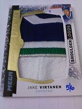 Jake Virtanen 2015-16 UD Premier Mega Shoulder Logos Patch /6 Canucks