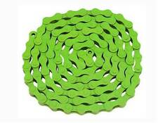 "SINGLE SPEED BICYCLE CHAIN GREEN 1/2'X1/8""X112 BICYCLE COLOR CHAIN"