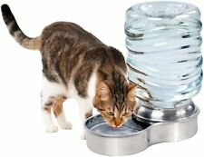 Pet Water Fountain Dog Cat Stainless Steel Bowl Automatic Gravity Water Dispense
