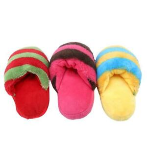 Pet Puppy Squeaky Squeaker Sound Slipper Shape Chew Play Toy R