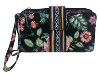 VERA BRADLEY Iconic RFID Combo Wristlet Wallet in VINES FLORAL Retired VGC!