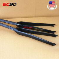 700c Road Bike Rigid Fork 28.6mm Full Carbon Fiber Road Fork Straight Tube 1-1/8