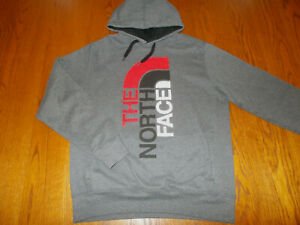 THE NORTH FACE DARK GRAY HOODED SWEATSHIRT MENS MEDIUM EXCELLENT CONDITION