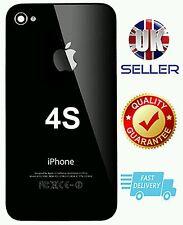 Nouveau remplacement arrière en verre noir housse/arrière couvercle de batterie pour APPLE iPhone 4S