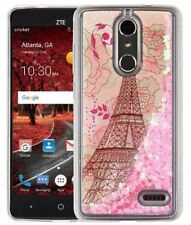 ZTE Blade Spark / ZTE Grand X 4 - Floating Liquid Glitter Star EIFFEL TOWER Case