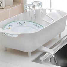 Home Basics Dish Drainer Tableware Storage Kitchen Holder Sink Dish Drainer NEW