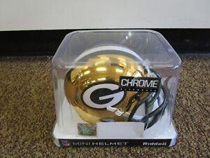 Riddell Green Bay Packers Chrome Mini Helmet NOS New Old Stock 6 Available