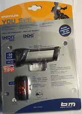 Busch & Müller IXON Core LED Frontleuchte+ IXXI LED Rückleuchte 180L/383 USB B&M