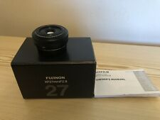 """FUJIFILM XF 27mm f2.8 PANCAKE LENS """" Excellent Condition"""""""