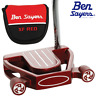 "BEN SAYERS XF RED NB2 34"" MALLET PUTTER +HEADCOVER & OVERSIZED GRIP / LEFT HAND"