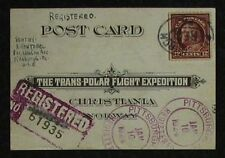 s1533) Transpolar Flight Exped - North Pole Mail registered to Switzerland 1924