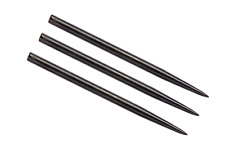 WINMAU BLACK  41mm  STEEL TIP DART REPLACEMENT POINTS PACK OF 3