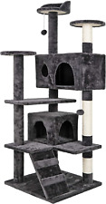 New listing 53 Inches Sturdy Multi-Level Cat Tree Stand House Furniture Kittens Activity Tow