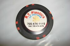 R T PLASTICS  CASINO  SAMPLE  CHIP  MINT  OVERSIZE