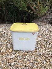 More details for vintage tala bread bin, 1950's yellow and white enamel bread bin