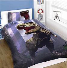 Land of t-rex-parure de lit pour lit simple, garçons chambre à coucher, chambre à coucher enfant